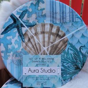 Aura Studio sea life Melamine Plates